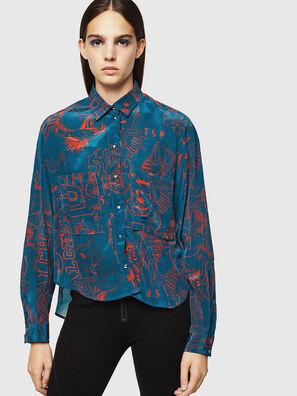 C-SUPER-F, Blu/Rosso - Camicie