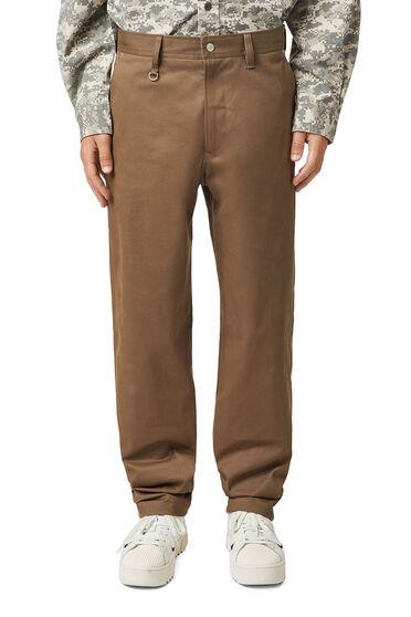 Pantaloni in twill stretch spazzolato