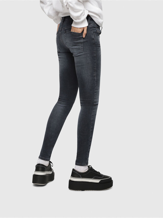 Diesel - Slandy Low 069BT, Blu Scuro - Jeans - Image 3