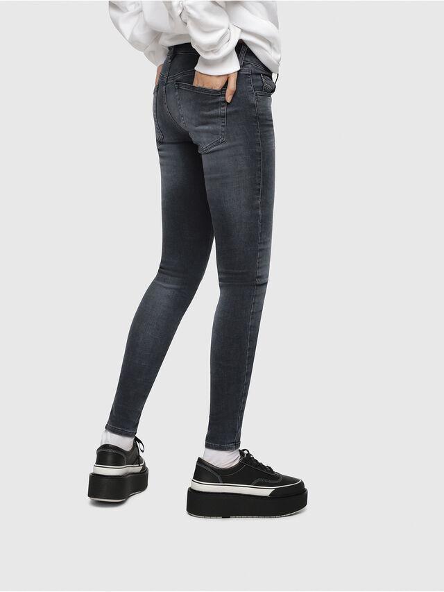 Diesel - Slandy Low 069BT, Blu Scuro - Jeans - Image 3