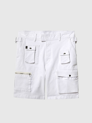 Shorts cargo in denim rinse