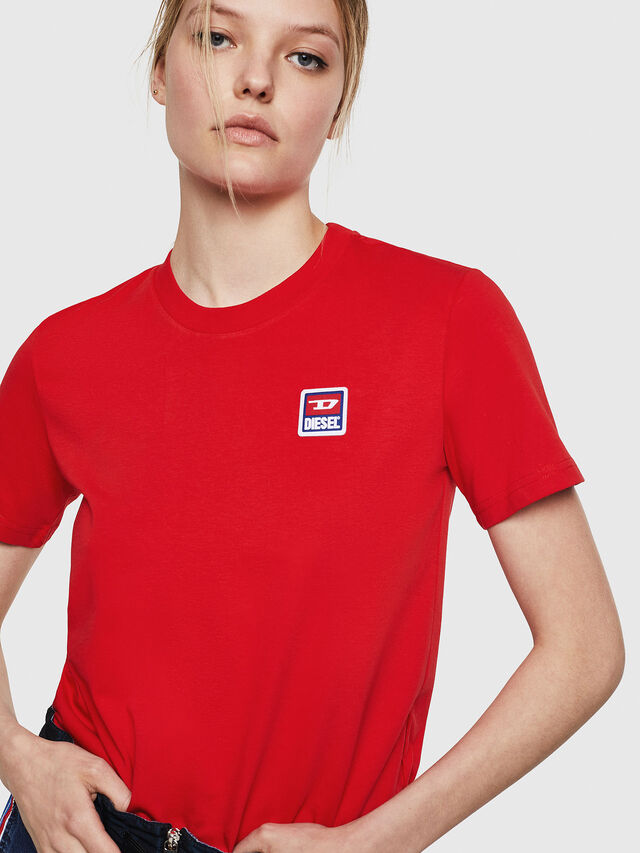 Diesel - T-SILY-ZE, Rosso Fuoco - T-Shirts - Image 3