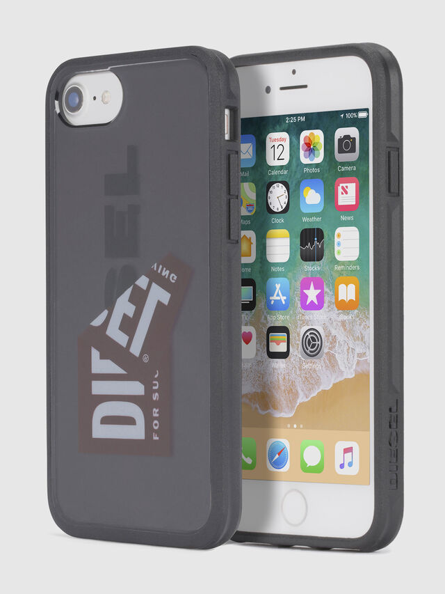 Diesel STICKER IPHONE 8/7/6S/6 CASE, Nero - Cover - Image 1
