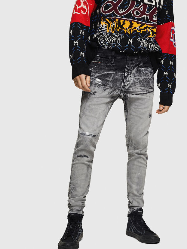 D-Reeft JoggJeans 084AH, Nero/Grigio scuro - Jeans
