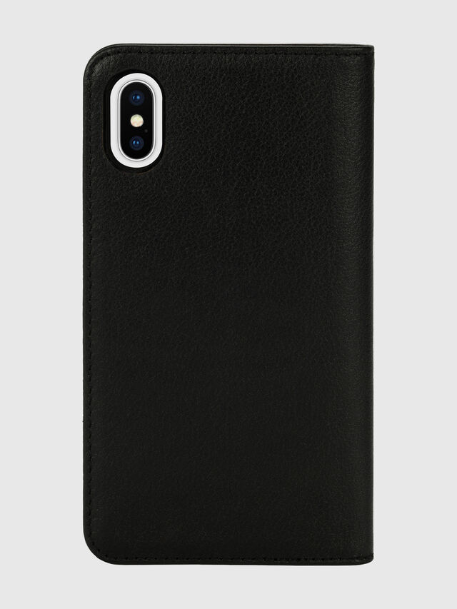 Diesel - DIESEL 2-IN-1 FOLIO CASE FOR IPHONE XS & IPHONE X, Nero/Bianco - Cover a libro - Image 2