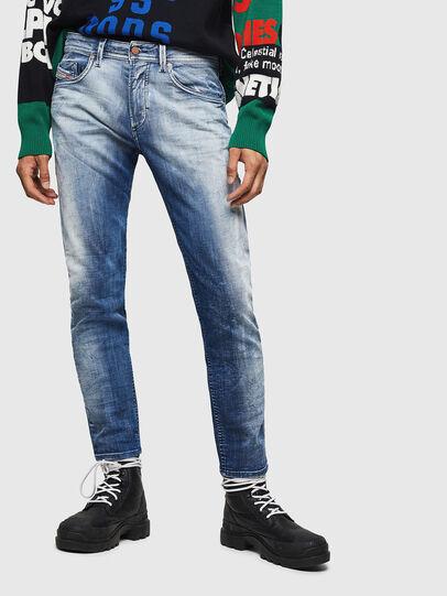 Diesel - Thommer JoggJeans 0870N, Blu medio - Jeans - Image 1