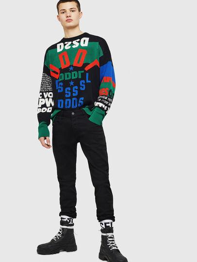 Diesel - D-Bazer 0688H, Nero/Grigio scuro - Jeans - Image 6