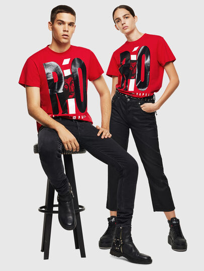 Diesel - LCP-T-DIEGO-RIO, Rosso - T-Shirts - Image 7
