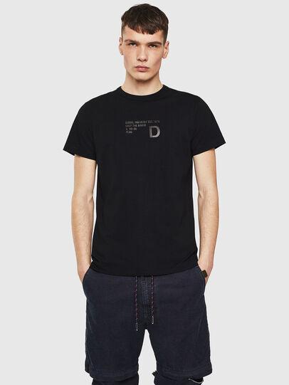Diesel - T-DIEGO-S5, Nero - T-Shirts - Image 1