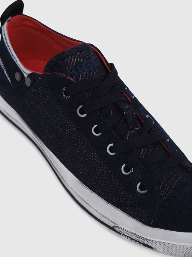 Diesel - EXPOSURE IV LOW  W, Blu Scuro - Sneakers - Image 4