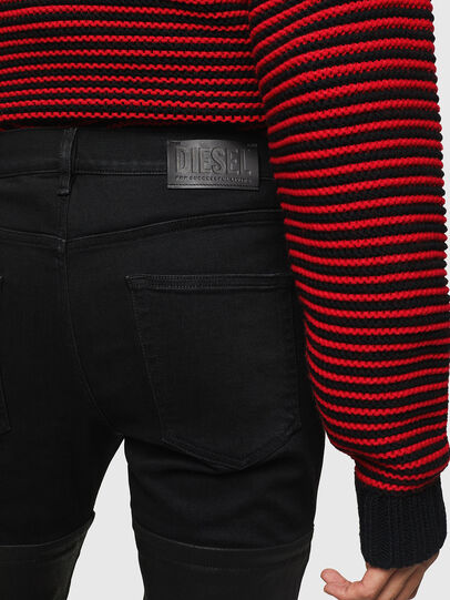 Diesel - D-Strukt 0091W, Nero/Grigio scuro - Jeans - Image 5
