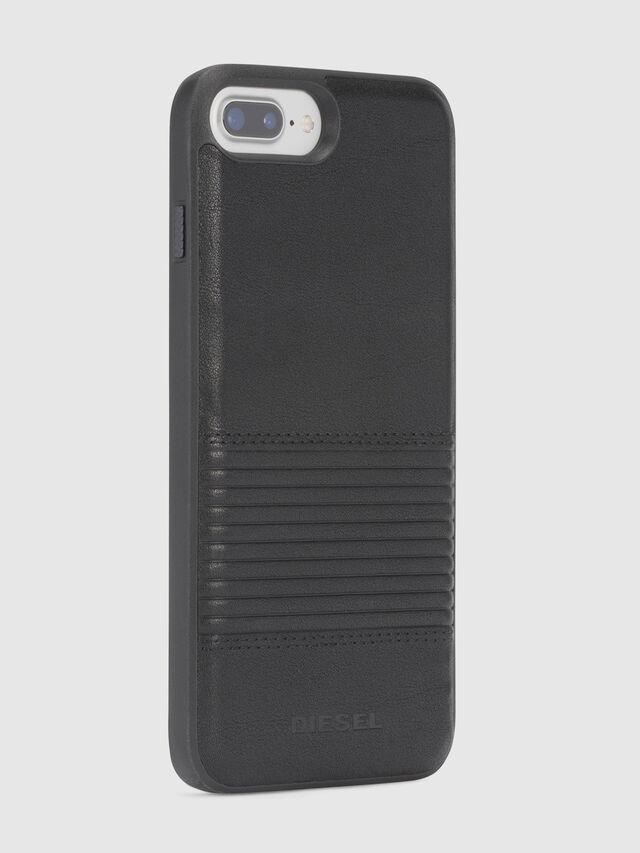 BLACK LINED LEATHER IPHONE 8 PLUS/7 PLUS/6s PLUS/6 PLUS CASE, Nero