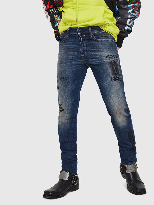 Diesel - Buster 087AW, Blu Scuro - Jeans - Image 1