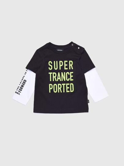 Diesel - TANCEB, Nero/Bianco - T-shirts e Tops - Image 1