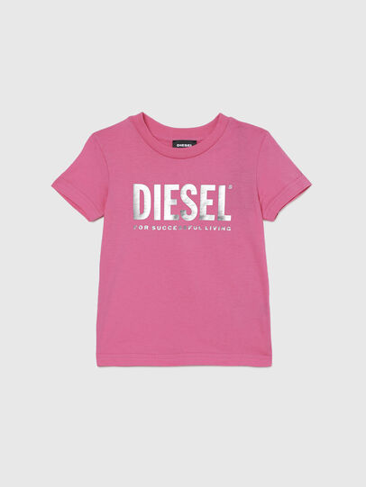 Diesel - TJUSTLOGOB-FL MC-R, Rosa - T-shirts e Tops - Image 1