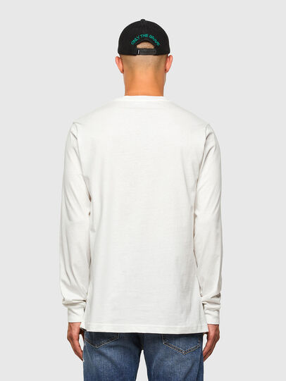 Diesel - T-JUST-LS-MOHI, Bianco - T-Shirts - Image 5