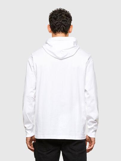 Diesel - T-FONTAL-LS-HOOD, Bianco - T-Shirts - Image 2
