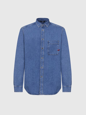 D-BILLY, Blu Chiaro - Camicie in Denim