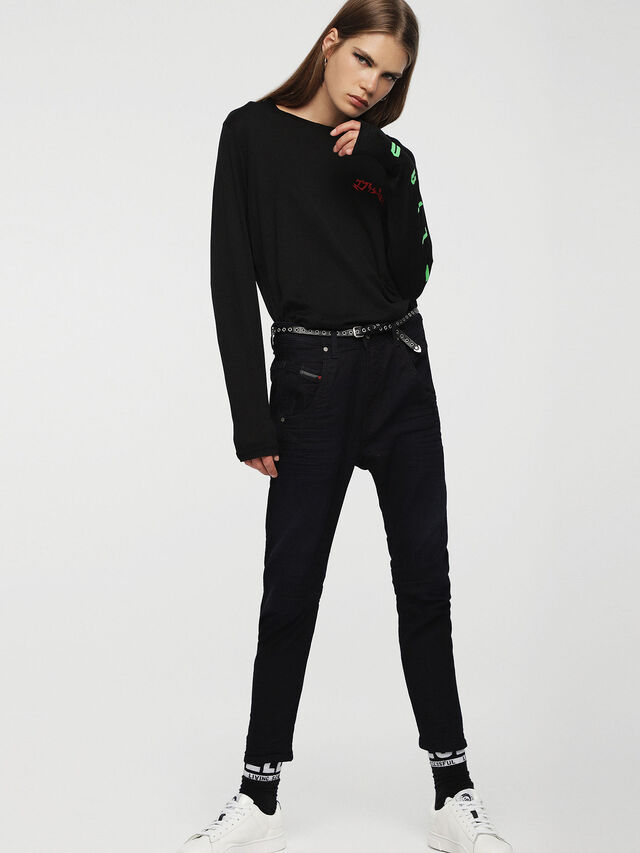 Diesel - Fayza JoggJeans 0829P, Blu Scuro - Jeans - Image 4