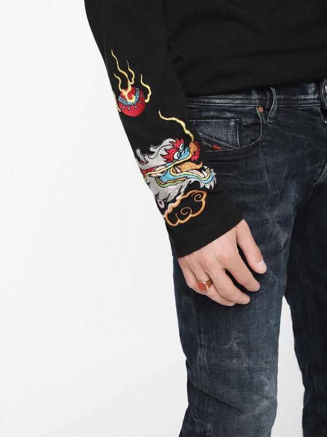 Diesel - Sleenker 084VR, Nero/Grigio scuro - Jeans - Image 4