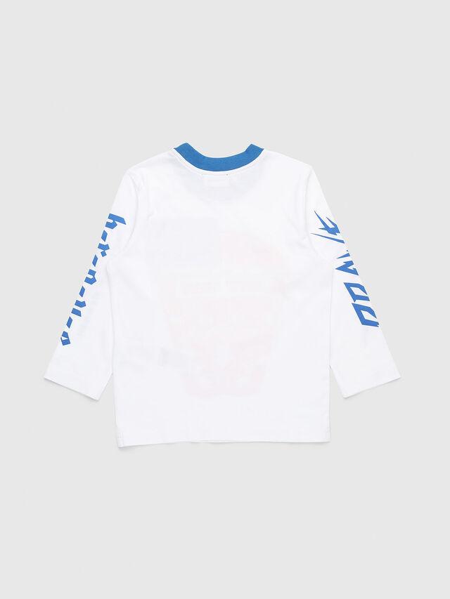 Diesel - TENNUB-R, Bianco/Rosso/Blu - T-shirts e Tops - Image 2