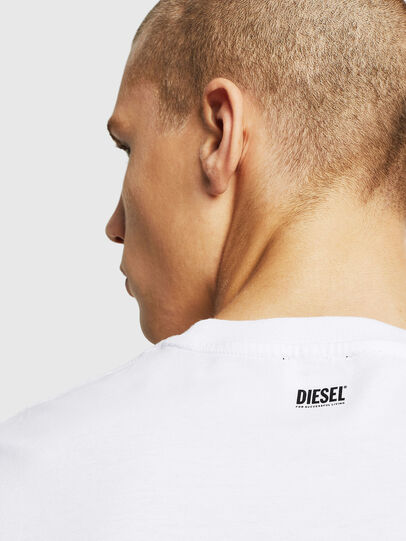 Diesel - T-DIAMANTIK-NEW, Bianco - T-Shirts - Image 3