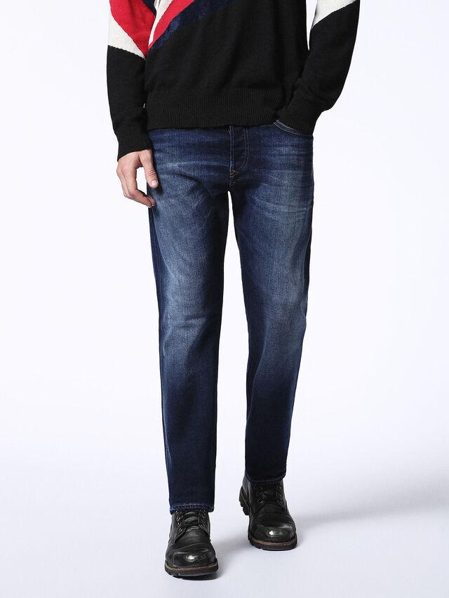 Diesel Buster 0860L, Blu Scuro - Jeans - Image 1