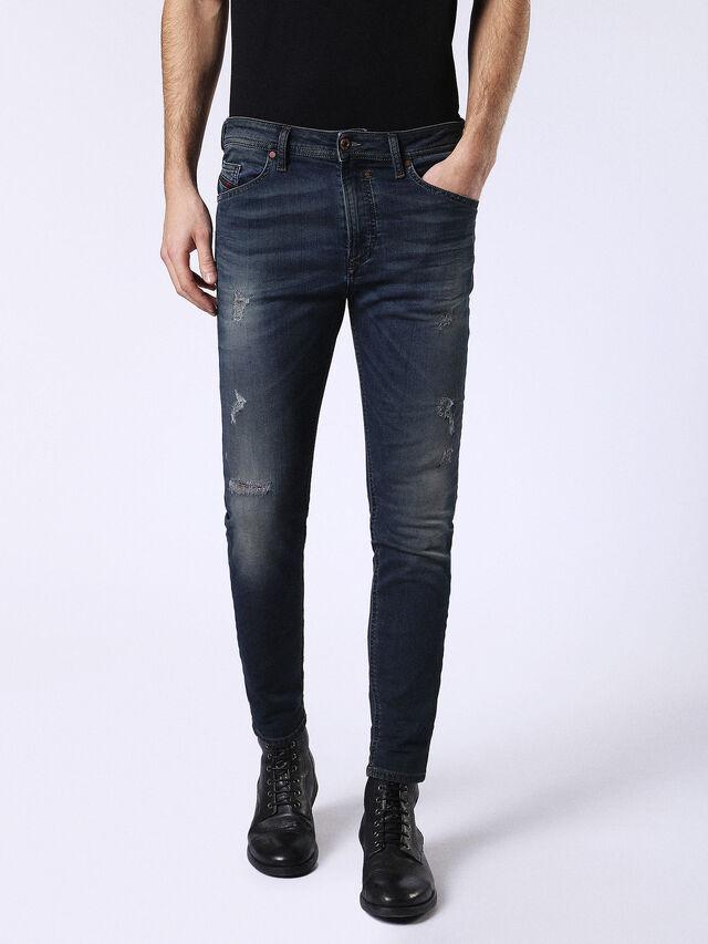 Diesel - Spender JoggJeans 0678L, Blu Scuro - Jeans - Image 1