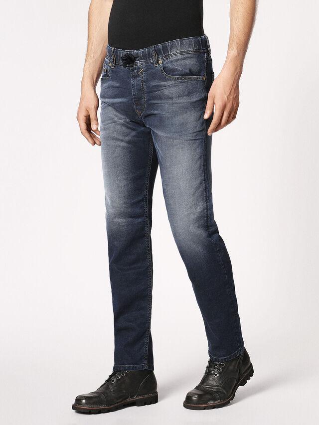 Diesel - Waykee JoggJeans 0683Y, Blu Scuro - Jeans - Image 7