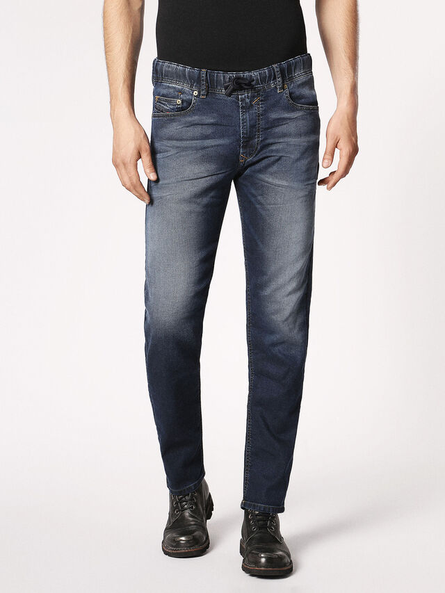 Diesel - Waykee JoggJeans 0683Y, Blu Scuro - Jeans - Image 2
