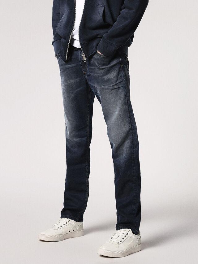 Diesel - Waykee JoggJeans 0683Y, Blu Scuro - Jeans - Image 1