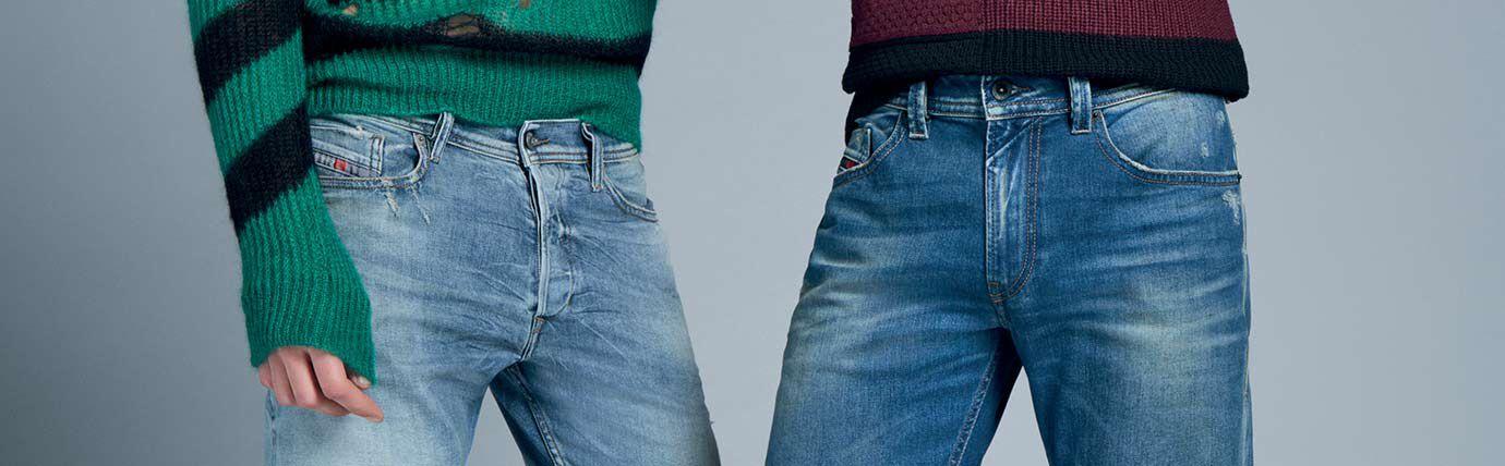Medium Treated Jeans Uomo Diesel